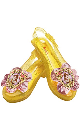 [Disguise Disney Princess Beauty and The Beast Belle Sparkle Shoes One Size Child] (Beauty And The Beast Costume Belle)