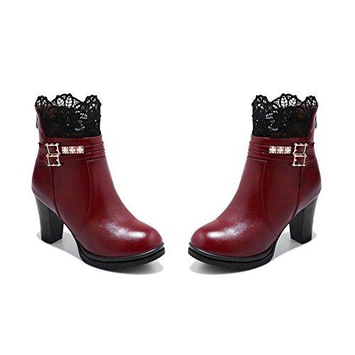 Bordeaux Abl10576 ABL10576 Femme Rouge Plateforme 5 37 EU BalaMasa dIwC4qC