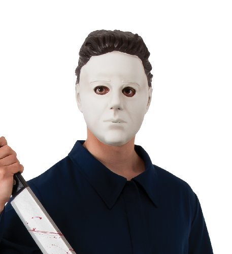 Rubie's Halloween Movie Michael Myers Vinyl Mask, White, One Size ()