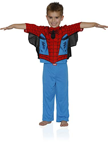 Spiderman Boys' Toddler 2-Piece Uniform Set with Webbing, Webby Red 3T ()