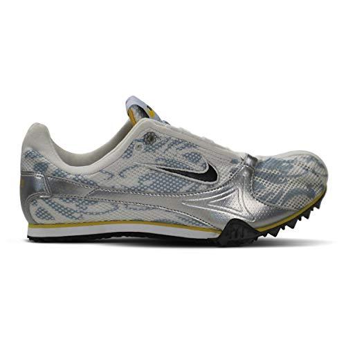 Nike Women's Zoom Jana Star II Running Cleats (6.5, White/Blue/Yellow)