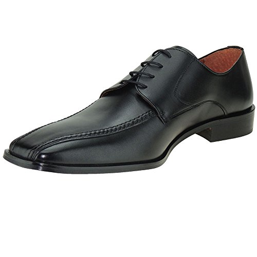 Hombre para Grandes Tallas Zapato Negro Cordones GARELLI Carlo Vestir nYI0XIB
