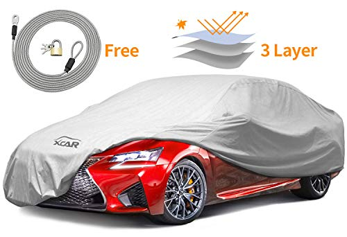 XCAR Brand New Breathable Dust Prevention Car Cover-Fits Sedan Hatchback Up To 200 Inch In (Indoor Dust Cover)