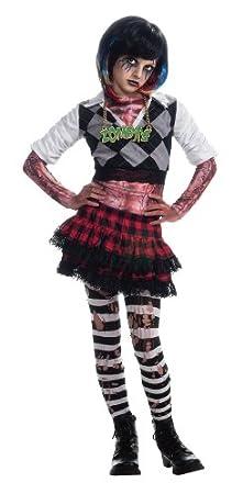Zombie Rocker Wig Punk Rock Star Fancy Dress Halloween Child Costume Accessory