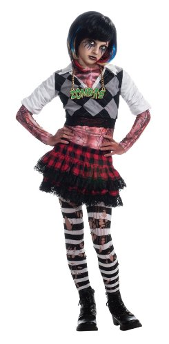 Girl Zombie Punk Rocker #1 Costume, (Punk Rocker Girl Halloween Costumes)