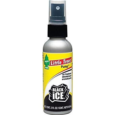Little Trees 2 Oz. Pump Spray Car, Home and Office Air Freshener, Black Ice - Little Trees Car