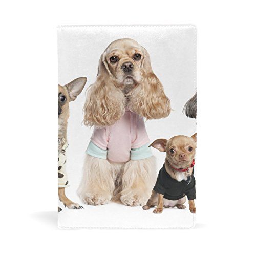 Dogs Variety Yorkshire Terrier Chihuahua Costumes Leather Stretchable Book Covers Durable And Reusable For Nylon Fabric Hard Cover Schoolbooks Notebooks Textbooks Men Women ( 9x11 (Diy Money Man Costume)