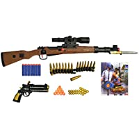 PUBG Karabiner 98 Toy Gun - Real Scale Mercenary Sniper Gun Toy / Rifle Toy Gun - with 4 Type Bullets Safe for Kids