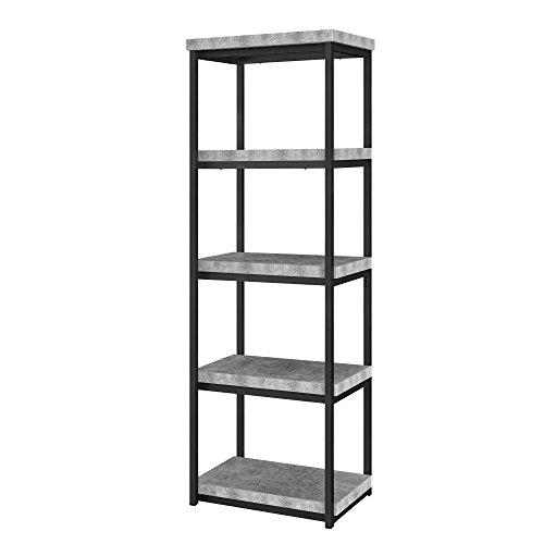 - Ameriwood Home Ashlar Bookcase, Concrete Gray