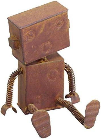 村田屋 【ロボットの置物】 ブリキロボット 中