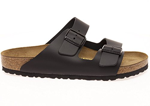 Birkenstock Women's Classic Cork Footbed Arizona 2-Strap Sandal In Natural Leather, Smooth Black Natural Leather' (37 M EU/6-6.5 B(M) US Women) by Birkenstock (Image #3)