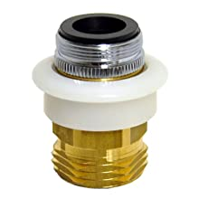 DANCO Dishwasher Snap Coupling Adapter, 15/16 in.-27M or 55/64 in.-27F x 3/4 in. GHTM, Brass (10521), Brass/Antique Brass