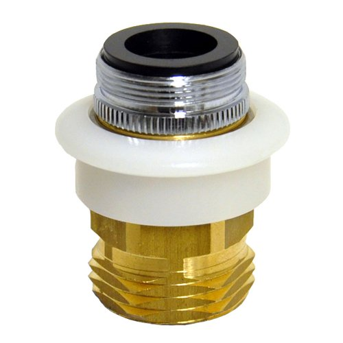 DANCO Dishwasher Snap Coupling Adapter, 15/16 in.-27M or 55/64 in.-27F x 3/4 in. GHTM, Brass (10521), Brass/Antique Brass ()