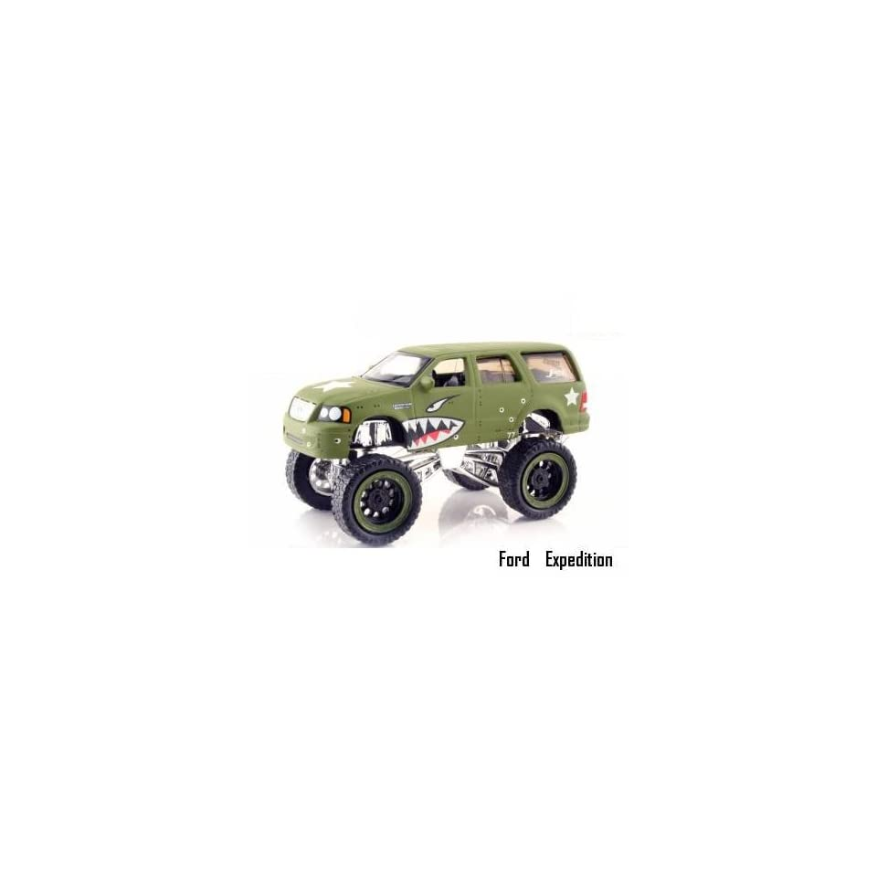 Jada Dub City High Profile Green Military Ford Expedition 164 Scale Die Cast Truck