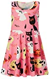 #7: Leapparel Girls Dress Floral Sleeveless Round Neck Casual/Party/Wedding