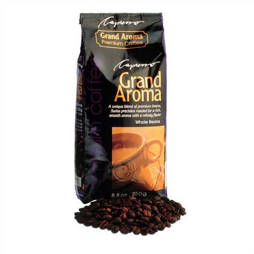 Capresso 464.05 CoffeeTeam GS 10-Cup Digital Coffeemaker w/ Conical Burr Grinder + Grand Aroma Whole Bean Coffee (8.8oz) Swiss Roast Regular + Accessory Kit