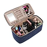 BAGSMART Makeup Bag Cosmetic Bag Large Toiletry Bag Travel Bag Case Organizer for Women, Smokey Blue