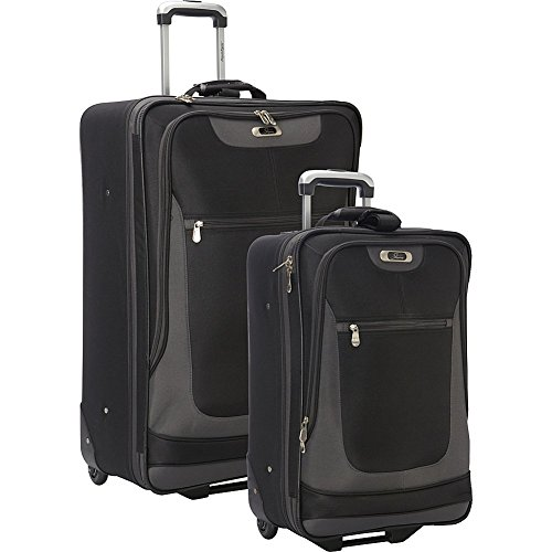 Skyway Epic 2 Piece 2 Wheeled Luggage Set (Black)