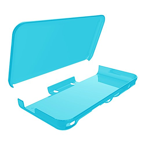 Fyoung Anti-Scratch Hard Case for NEW Nintendo 2DS XL,Crystal Clear Case for NEW Nintendo 2DS XL - Blue