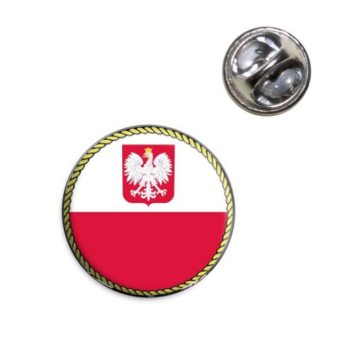 - Flag of Poland with Coat of Arms Lapel Hat Tie Pin Tack