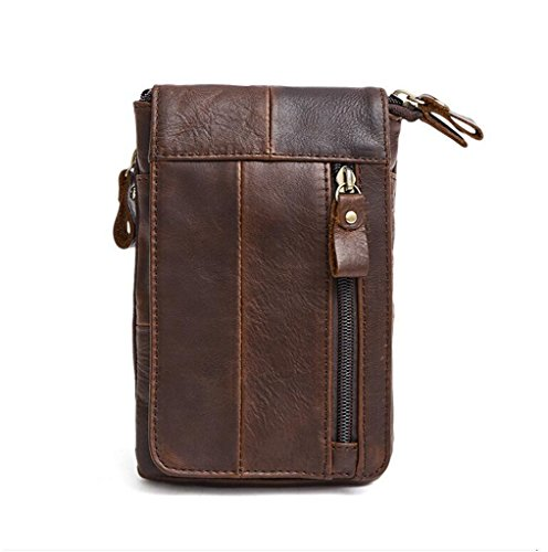 1 Sucastle Bags Briefcases Capacity Vintage Messenger Shoulder Leather Men's Large Design 1 FqvCO