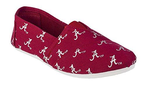 2015 NCAA Womens College Ladies Canvas Slip-On Summer Shoes - Pick Team (Alabama Crimson Tide, Small) (Alabama Crimson Tide Canvas)