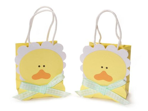 Embossed Favor Bags (Darice Yellow Duck 2-1/2 by 3-Inch Embossed Favor Bag,12-Piece)
