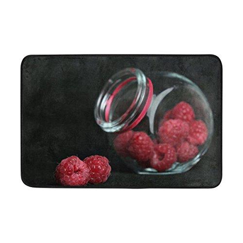 Tianyuss Macro Berry Raspberry Bank Doormat Indoor Outdoor Entrance Floor Mat Bathroom 23 6 X 15 7 Inch