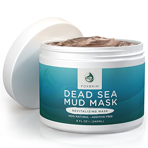 Foxbrim Pure Dead Sea Mud Mask - 100% Natural Clay Mask - (Herbal Cider Hair Rinse)