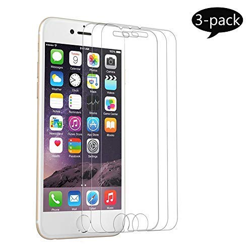 【3-Pack】 Screen Protector Compatible for iPhone 8 Plus/7 Plus/6 Plus, [5.5 inch], HD Tempered Glass,Anti-Scratches,Anti-Fingerprint, Case Friendly (iPhone plus-3pack) … (iphone5.5-3packs)