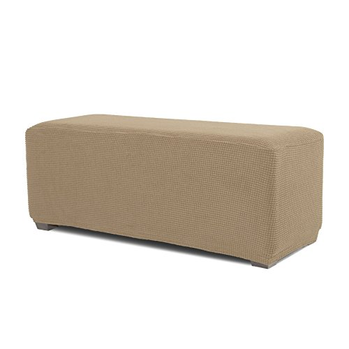 Dog Footstool - Hokway Stretch Storage Ottoman Slipcovers Ottoman Foot Rest Sofa Slipcovers Footstool Protector Covers(Sand, Large)