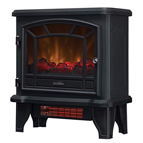 Duraflame Electric DFI-550-36 Infrared Quartz Fireplace Stove Heater, Black (Black Electric Fireplace Heater)