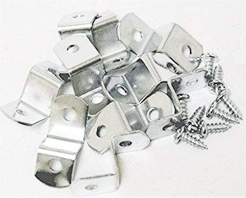 "888 Corp Extra Heavy Duty 1/2"" Offset Clips 100 Pack with Screws"
