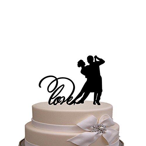 Kaishihui Wedding Cake Topper - bride and grrom with Tango Dance