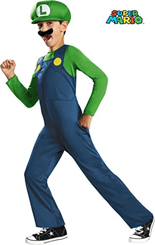 Super Mario Bros. - Luigi Child Costume size Small 4-6 (Mario And Luigi Costumes Kids)