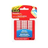 Scotch Reusable Mounting Tabs, Double Sided Tabs for Lightweight Mounting, Clear, 1 in x 1 in, 18-Pack, R100-C