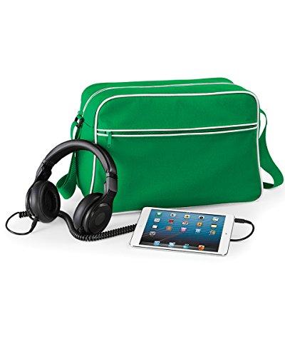 BagBase: Retro Shoulder Bag bg14 Pure Green/White