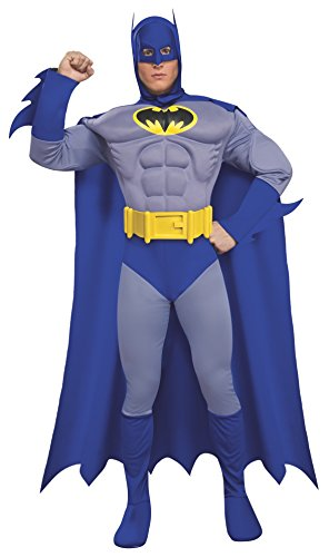 Heroes And Villains Costume (Rubie's Dc Heroes and Villains Collection Deluxe Muscle Chest Batman, Multicolored, Small)