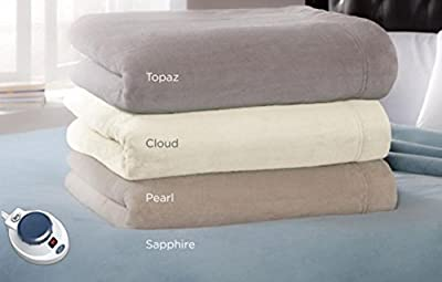 Serta | Luxe Plush Fleece Heated Electric Throw with Safe & Warm Low-Voltage Technology