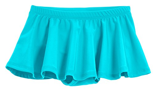 City Threads Big Girls' Swimming Suit Bottom Bikini Skort Swim Skirt Coverup Wrap Sun Protection for Modesty Yet Fashionable Turquoise, 14