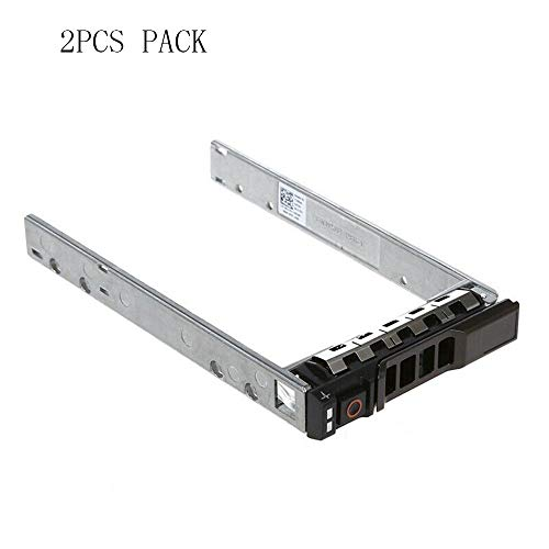 (2PCS Pack) 2.5 inch Hard Drive Caddy Tray Compatible for DELL PowerEdge Servers R330 R430 T430 T440 T640 R620 R310 R410 R415 R510 G176J 0G176J (Hard Drive Caddy)