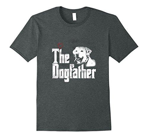 Mens The Dogfather Shirt | Labrador Dad Tshirt | Fathers Day Gift 2XL Dark Heather