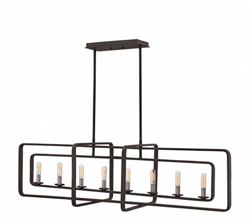 Hinkley 4818DZ Quentin Chandelier, 8-Light 480 Total Watts, Aged Zinc - Bellacor Metal Chandelier