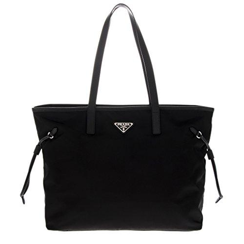 Prada Women's Fabric Handbag Black