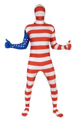 "Morphsuits USA Original Flag Fancy Dress Costume - size XXLarge - 6""2-6""9 (186cm-206cm)"