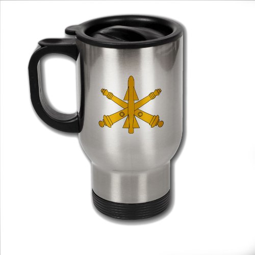 Stainless Steel Coffee Mug with U.S. Army Air Defense Artillery branch insignia