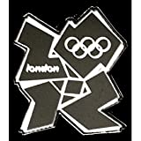 London 2012 Olympic Mirror Logo Pin Badge by Honav For Sale