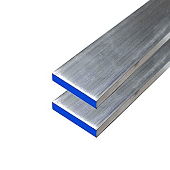"Online Metal Supply 6061-T6511 Aluminum Flat Bar 1/4"" x 1-1/4"" x 72"" long (2 Pack)"