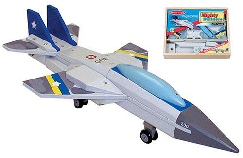 (Melissa & Doug Deluxe Wooden Mighty Builders Jet Plane)