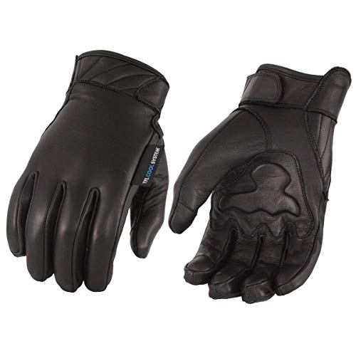 Milwaukee Leather Cool-Tec MG7502 Men's Gel Palm Leather Gloves with Touch Screen Fingers - Black/X-Large - - I-tec Leather
